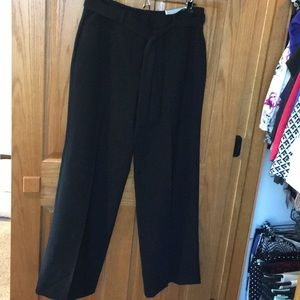 NWT Chico's Black Drapey, Wide Leg Dress Slacks